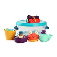 进口 美国B.Toys 婴儿宝宝洗澡玩具套装 水花溅洗澡玩具 0-3岁