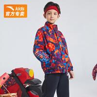 【到手价231】【初生牛犊】安踏儿童装男童外套新年红商场同款两面穿拜年服352118613