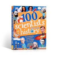 【全店300减100】英文原版进口小说/故事 100位创造历史的科学家 100 Scientists Who Made