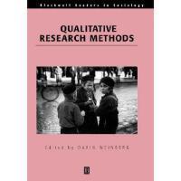 【预订】Qualitative Research Methods Y9780631217626