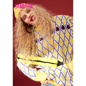【尾品汇大促】妖精的口袋Y冬装2018新款ins超火的毛衣宽松韩版长款套头上衣女