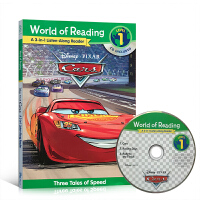 英文原版绘本 World of Reading Cars 3-in-1 Listen-Along Reader迪士尼汽