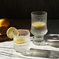北欧创意玻璃杯水杯威士忌烈酒杯果汁杯威士忌杯红酒杯