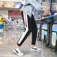 休闲裤裤子男士宽松哈伦运动裤男修身小脚韩版潮流九分裤秋季新款