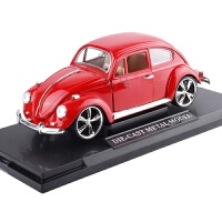 【领券立减】1:18仿真复古老爷车 甲壳虫合金汽车模型 可开门底坐玩具礼盒