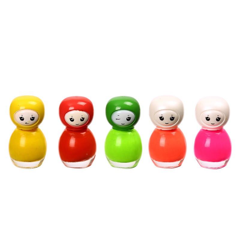 儿童指甲油套装可撕拉水性宝宝女孩公主小孩美甲玩具