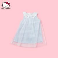 HelloKitty女童背心连衣裙2021夏季新款无袖公主裙宝宝儿童装裙子