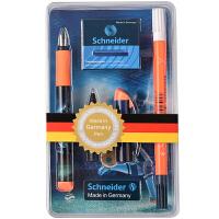 德国进口施耐德(Schneider)钢笔 Inx Sportive运动套装橙色款(F尖+改错笔1支+墨胆1盒+走珠笔头