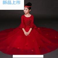 女童礼服公主蓬蓬长裙中大童钢琴演出主持人花童生日走秀演出服秋