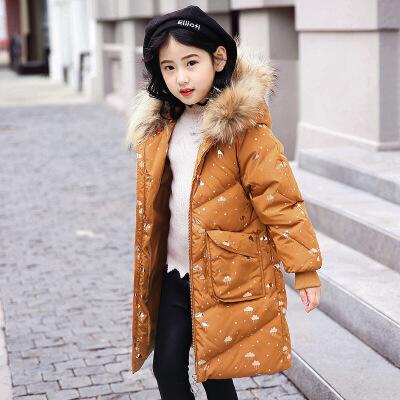 儿童羽绒服女童中长款女大童2018新款韩版洋气反季 发货周期:一般在付款后2-90天左右发货,具体发货时间请以与客服协商的时间为准