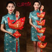 家居装饰中国结鱼挂件福字鱼中国结年年有余挂件