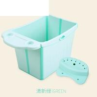 折叠沐浴桶新生儿宝宝洗澡桶泡澡桶加大号婴儿浴盆儿童洗澡盆可坐