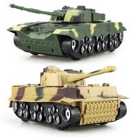 儿童玩具模型男孩大号惯性声光越野装甲坦克车99式德国虎式军事车