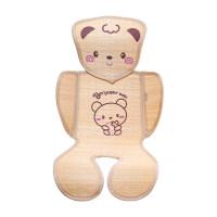 安全座椅凉席 婴儿推车凉席坐垫新生儿童宝宝餐椅通用安全座椅夏季透气婴儿竹席 可爱小熊系列 其它