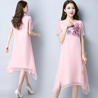 仙气质长裙甜美仙裙子飘逸欧根纱连衣裙女夏新款中长款仙女裙