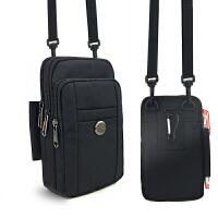 手机包男单肩大容量多功能手机腰包穿皮带斜跨休闲包腰包挂包 7.0寸