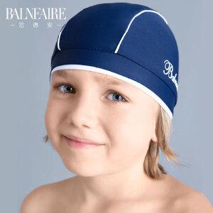 范德安儿童泳帽中大童海边护耳防晒游泳帽男女童长发不勒头沙滩帽