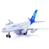 空客A380合金飞机模型 儿童玩具空中巴士客机声光回力飞机
