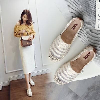 ZHR2018春季新款韩版渔夫鞋平底休闲鞋乐福鞋透气鞋子百搭女鞋潮AR06