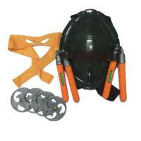 忍者神龟COS装扮套装龟壳眼罩面具送公仔儿童忍者龟模型玩具