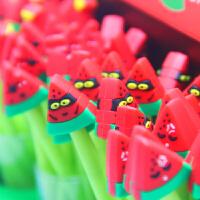 水果派对西瓜表情造型韩国文具棒棒糖中性笔创意针管水笔黑色0.5mm