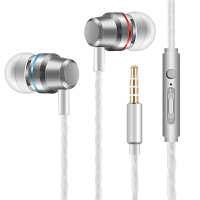 耳机入耳式重低音有线控带麦K歌手机通用男女生耳塞