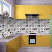 厨房瓷砖防油污灶台油烟机贴纸