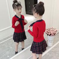女童毛衣连衣裙公主裙子秋冬季2018新款小女孩超洋气长袖儿童秋装
