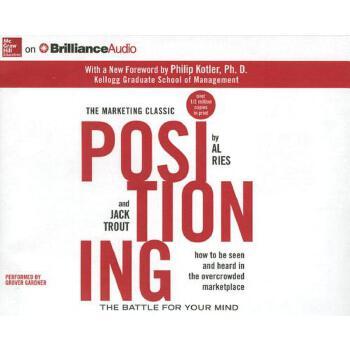 【预订】Positioning: The Battle for Your Mind Compact Disc只是光盘 预订商品,需要1-3个月发货,非质量问题不接受退换货。