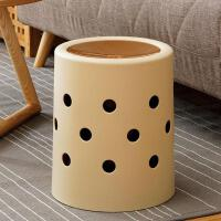 欧润哲 创意摇盖款垃圾桶 家居清洁收纳桶纸篓