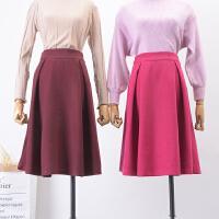 C1【1.2斤】FSA04秋冬季新品高腰纯色侧拉链半身裙