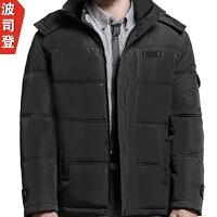 G&9 中老年羽绒服男士加厚中长款中年爸爸装老年人外套