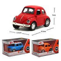 回力车声光合金车模仿真迷你双层巴士男孩儿童玩具汽车模型