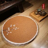 日式蒲团 飘窗坐垫圆形禅垫 榻榻米垫日本藤编坐垫 两件