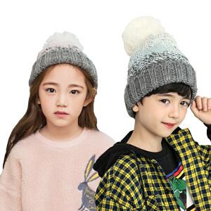 kk树宝宝帽子秋冬女韩版儿童帽子男小孩保暖毛线帽加绒针织帽童帽