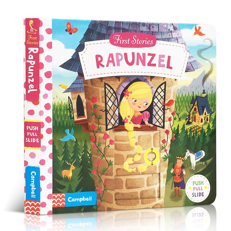 英文原版进口童书 First Stories系列 Rapunzel  长发公主 机关操作活动玩具纸板书 1-5岁儿童英语趣味阅读亲子学前早教绘本益智开发协调动手力