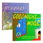 【中商原版】晚安月亮 逃家小兔 英文版 Goodnight Moon&The Runaway Bunny吴敏兰廖彩杏
