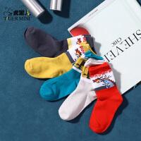 【2件3折:29.7元】小虎宝儿男童袜子2021秋季款儿童卡通运动中筒袜中大童潮