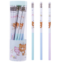 得力(deli) 铅笔桶装带橡皮六角HB小学生写字笔 考试2B儿童绘图文具批发 HB/30支 58133 包邮