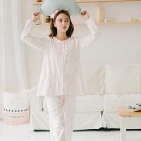 春秋睡衣女长袖纯棉绒布甜美清新家居服套装可爱学生春季居家服