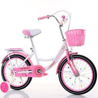 儿童自行车6-7-8-9-10-16岁新款女童小孩学生公主式单车 +辅助轮