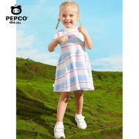 【2件5折夏装到手价:74.5】小猪班纳童装女童连衣裙条纹夏装2020新款女孩儿童裙子夏款洋气