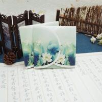 复古中国风异形古风唯美拼接套装小礼品之圆形书签带流苏