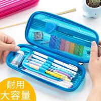 笔袋大容量男女高中生小学生用文具袋儿童小清新收纳包初中生笔盒创意韩国可爱简约大学生铅笔袋