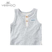 【秒杀】英氏男童背心夏季儿童无袖T恤 男宝宝上衣圆领t恤162170