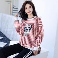 2018孕妇装秋装t恤新款韩版宽松大码潮妈孕妇上衣长袖中长款