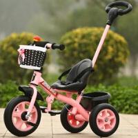 儿童三轮车脚踏车1-3岁小孩自行车男女宝宝童车手推车2-3-4岁单车 推把发泡轮