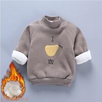 冬季女宝宝加绒卫衣3个月男婴儿加厚保暖上衣5韩版0一1-2岁冬装9秋冬新款