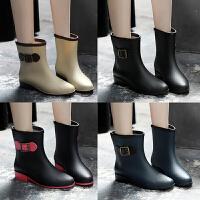 时尚韩国雨鞋女成人雨靴女士马丁胶鞋中筒水靴防水鞋短筒防滑套鞋