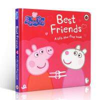 英文原版绘本 Peppa Pig Best Friends 粉红猪小妹佩奇纸板翻翻书 小猪佩琪的好朋友 佩佩猪 2-3